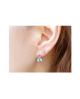 [For one ear] Domestic pure titanium earrings star platinum [Horie / H-1-TP703-01]