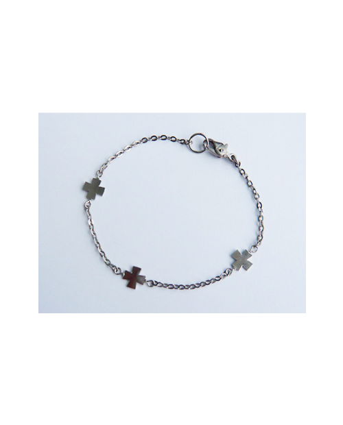 Domestic pure titanium anklet cross A [Horie / H-A-TBT 809]