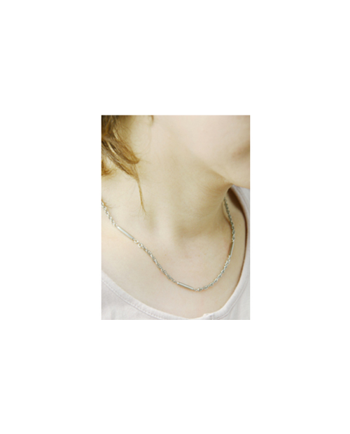 【Domestic pure titanium】 Negative ion necklace rope 【Horie / H-CT-I201】