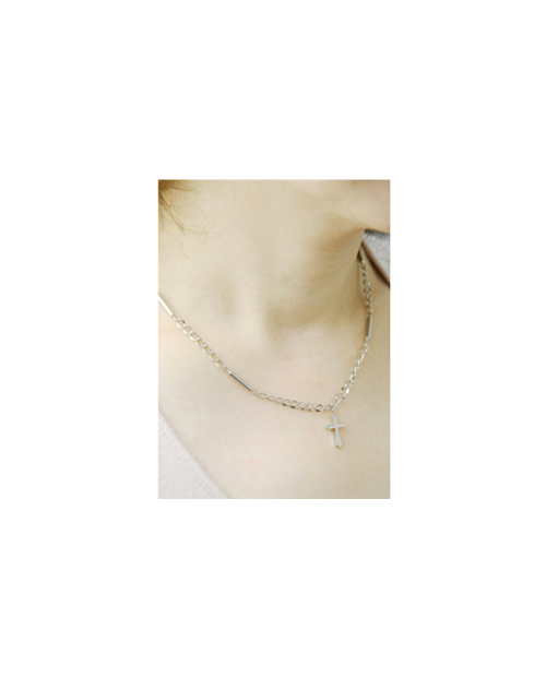 【Domestic pure titanium】 Negative ion necklace cross 【Horie / H-CT-I204】