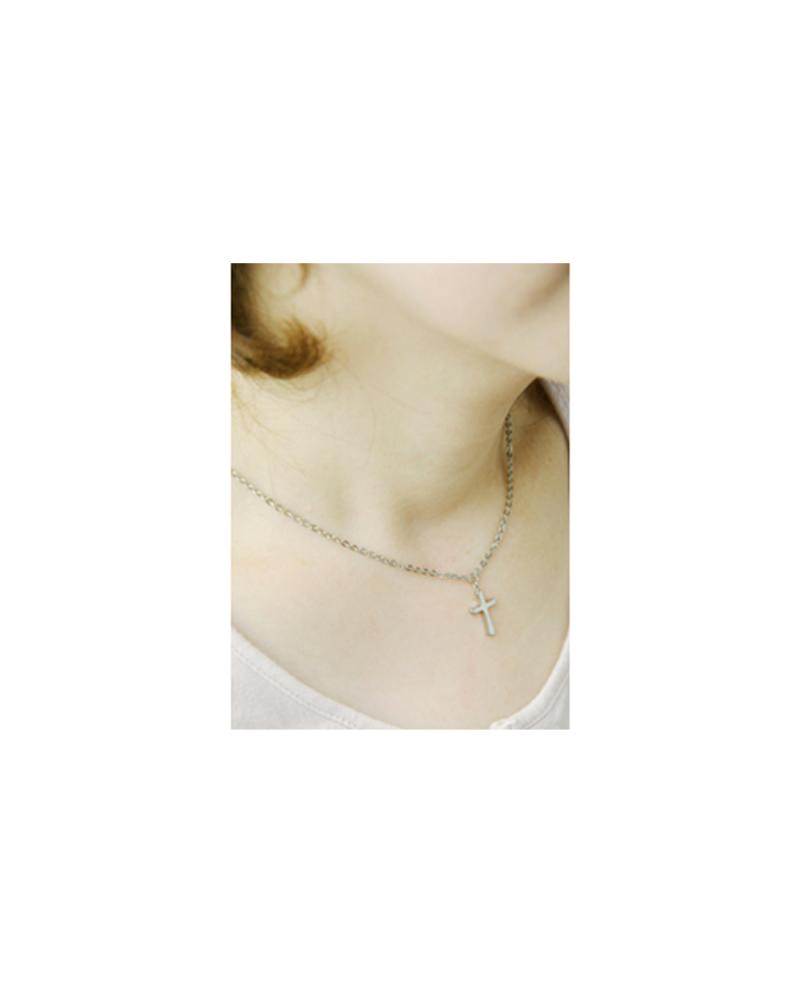 Domestic pure titanium necklace cross 【Horie / H-CT-N001】
