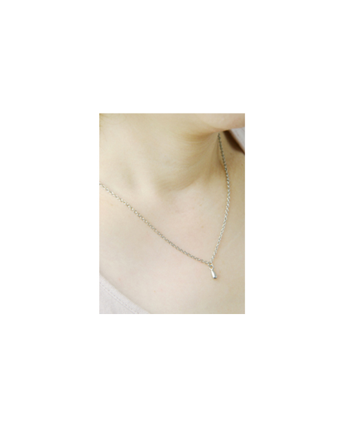 Domestic pure titanium necklace Tsuyu ball 【Horie / H-CT-N003】