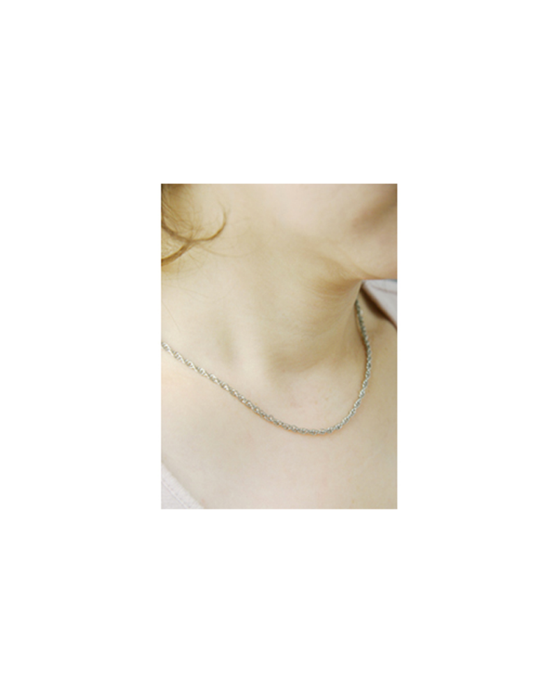 Domestic pure titanium necklace rope 【Horie / H-CT-N006】