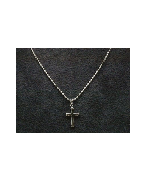 Domestic pure titanium necklace ball chain (cross) [Horie / H-CT-N101]