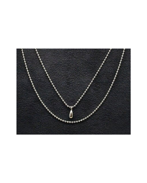 Domestic pure titanium necklace two (Tsuyu ball) [Horie / H-CT-N 204]