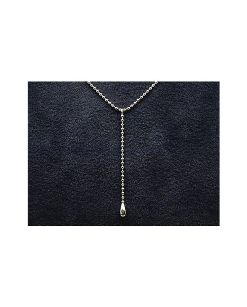 Domestic pure titanium necklace Y-shaped (Tsuyu ball) [Horie / H-CT-N301]