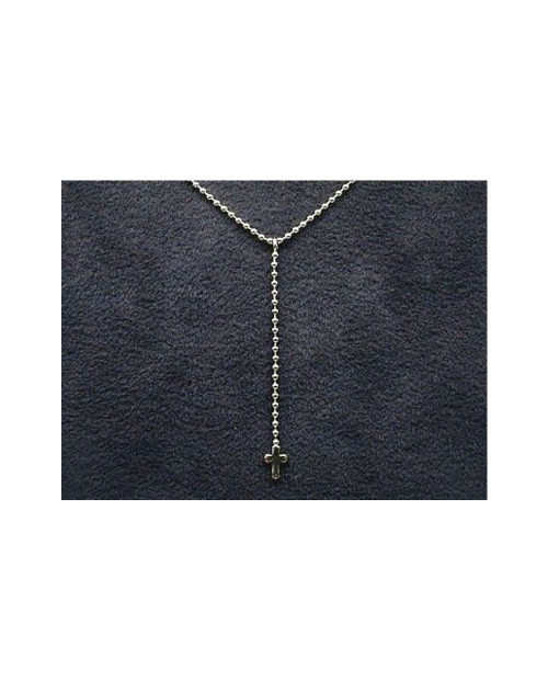 Domestic pure titanium necklace Y-shaped (cross) [Horie / H-CT-N302]