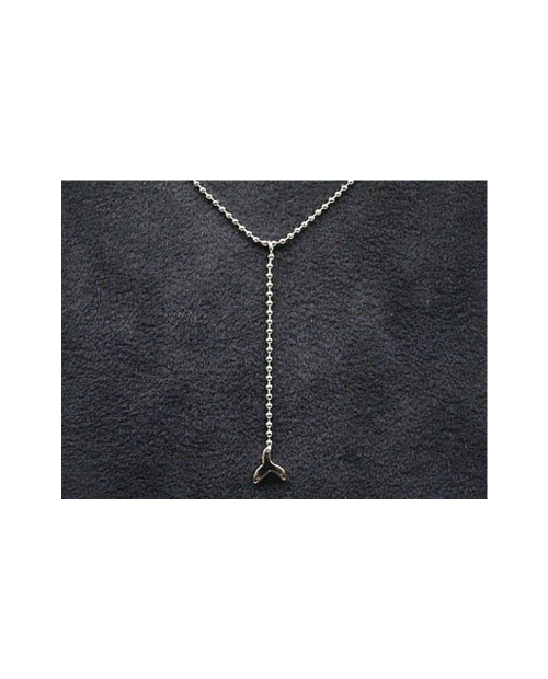 Domestic pure titanium necklace Y-shaped (tail) [Horie / H-CT-N304]