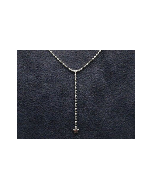 Domestic pure titanium necklace Y-shaped (star) [Horie / H-CT-N305]