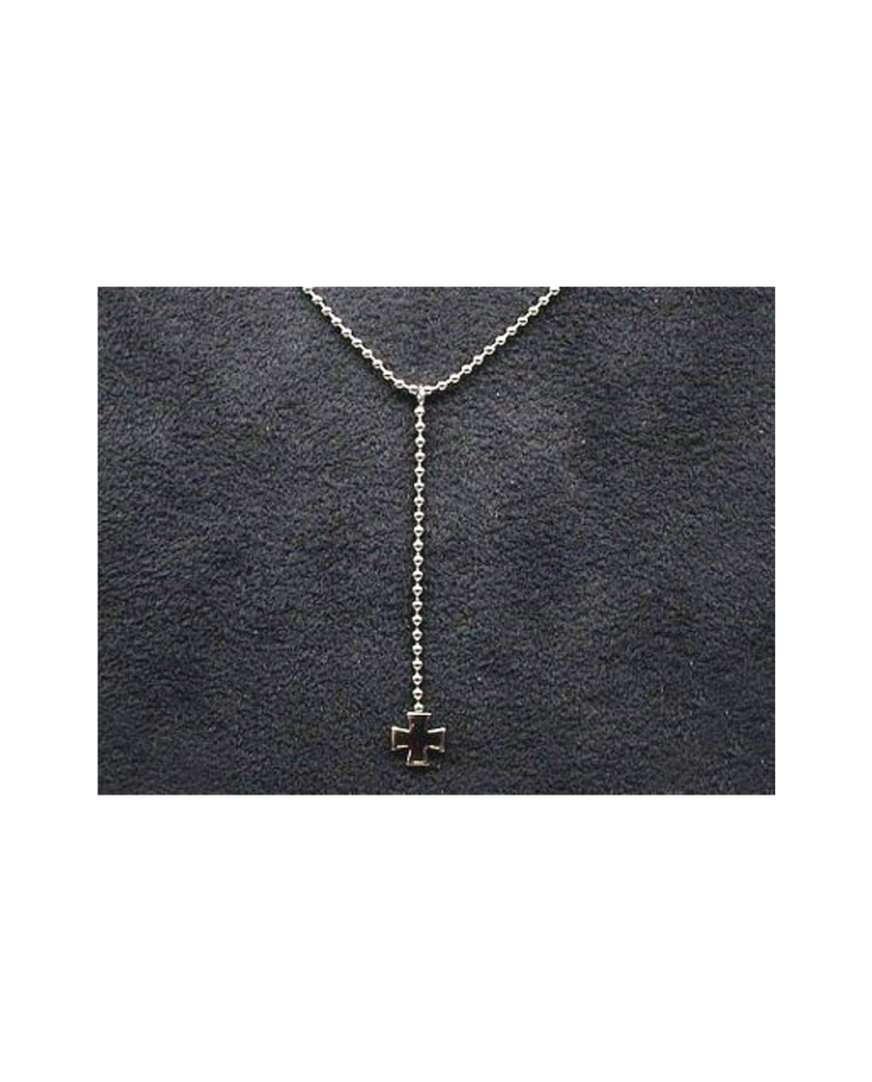 Domestic pure titanium necklace Y-shaped (cross) [Horie / H-CT-N306]