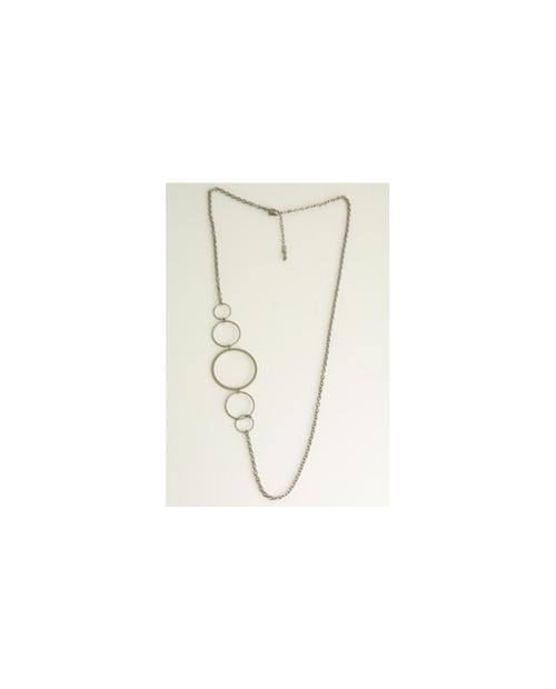 Domestic pure titanium long necklace circle S [Horie / H-CT-N602]