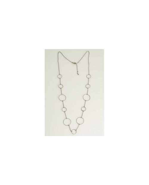 Domestic pure titanium long necklace circle S (whole) [Horie / H-CT-N603]