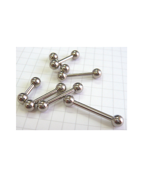 Domestic pure titanium body piercing barbell 14G (1.6 mm) pole 12.7 mm [Horie / H-I164]