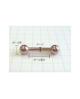 国産純チタンボディピアス バーベル 12G(2.0mm)ポール6.4mm【Horie/H-I202】