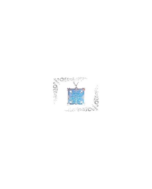 Titanium necklace (mesh) square (large) blue [Horie / Horie]