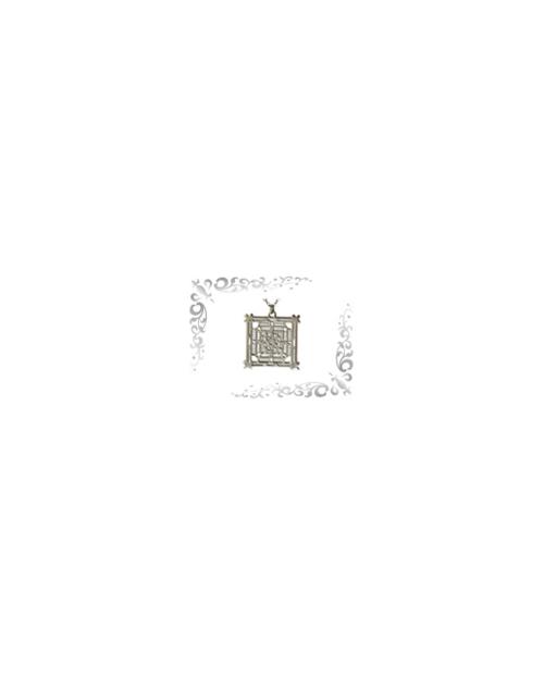 Titanium necklace (mesh) square (large) silver [Horie / Horie]