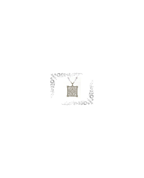 Titanium necklace (mesh) square (small) silver [Horie / Horie]