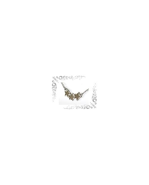 Titanium necklace (mesh) star triple gold [Horie / Horie]