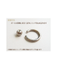 Domestic pure titanium body earrings beads 18G (1.0mm) ID 9.5mm ☆ 5 colors [Horie / H-Q103]