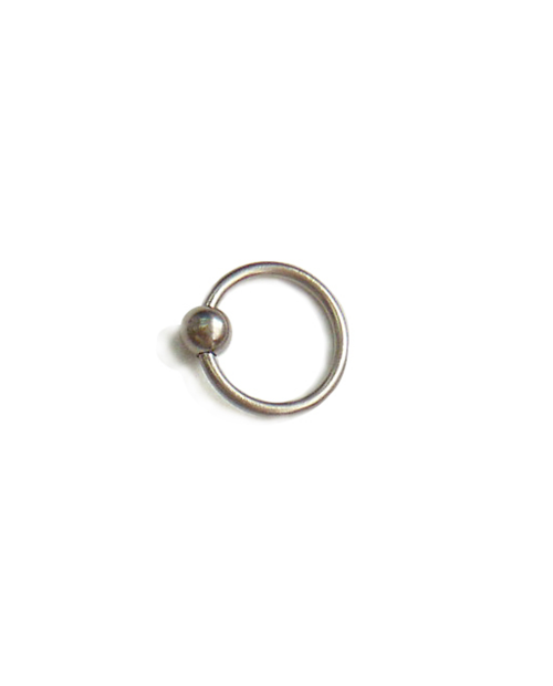Domestic Pure Titanium Body Earrings Bead 16G (1.2mm) Inner Diameter 9.5mm ☆ 5 colors [Horie / H-Q123]