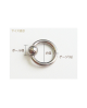 Domestic pure titanium body earrings beads 16G (1.2mm) inner diameter 15.9mm ☆ 5 colors available [Horie / H-Q125]