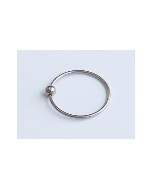 Domestic Pure Titanium Body Earrings Bead 16G (1.2mm) Inner Diameter 19.1mm ☆ 5 colors [Horie / H-Q126]
