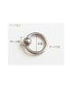 国産純チタンボディピアス ビーズ 14G(1.6mm)内径19.1mm【Horie/H-Q166】