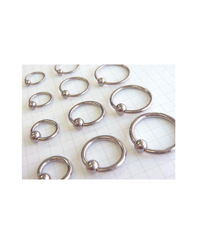 Domestic Pure Titanium Body Piercing Beads 12G (2.0mm) Inner Diameter 9.5mm [Horie / H-Q203]