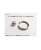 Domestic pure titanium body earrings beads 10G (2.4mm) inner diameter 12.7mm [Horie / H-Q244]