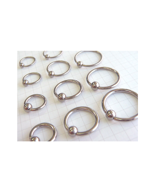 Domestic pure titanium body earrings beads 10G (2.4mm) inner diameter 15.9mm [Horie / H-Q245]