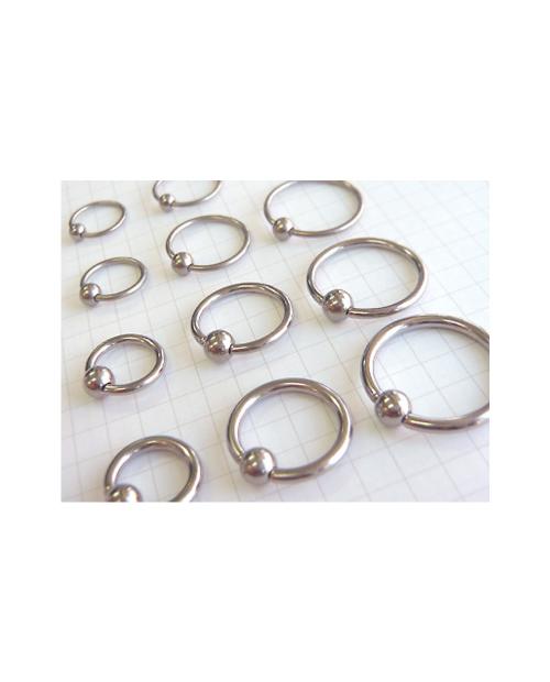 Domestic pure titanium body earrings beads 10G (2.4mm) inner diameter 22.2mm [Horie / H-Q247]