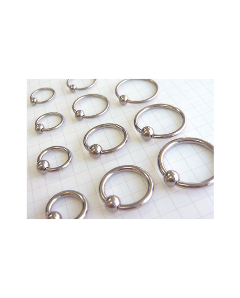 Titanium Body Piercing Beads 6G (4.0mm) Inner Diameter 15.9mm [Horie]