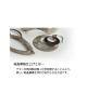Domestic pure titanium bracelet [Bangle type] 梵 character (crystal flower finish) [Horie / H-TB-08]