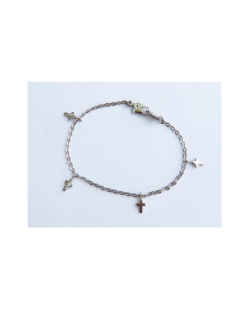 Domestic pure titanium bracelet cross (Azukitsubushi) [Horie / H-TBT901]
