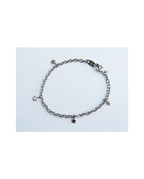 Domestic Pure Titanium Bracelet Star (in Azuki) [Horie / H-TBT902]