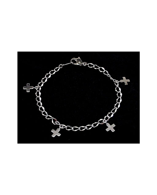 Domestic Pure Titanium Bracelet Cross B (Arame) [Horie / H-TBT904]