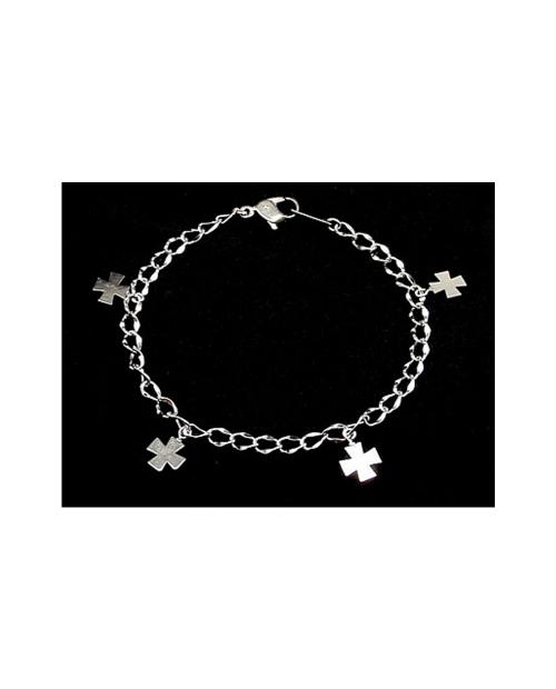 Domestic Pure Titanium Bracelet Cross A (Arame) [Horie / H-TBT905]