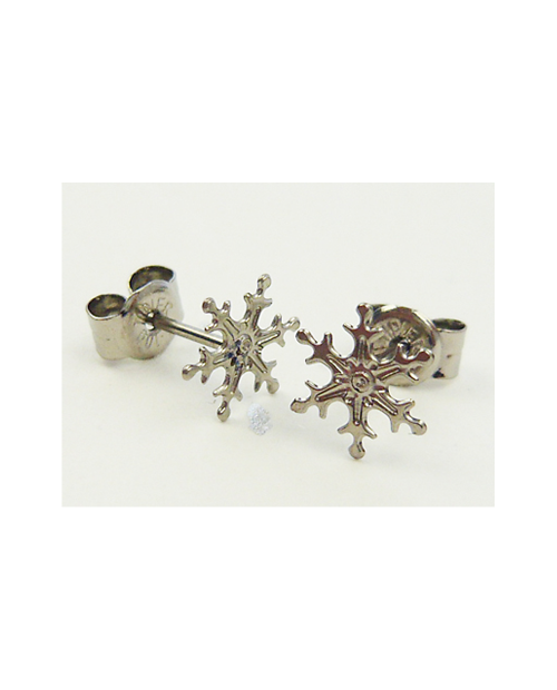 Domestic pure titanium earrings Snow D ☆ 4 colors [Horie / H-TP700D]