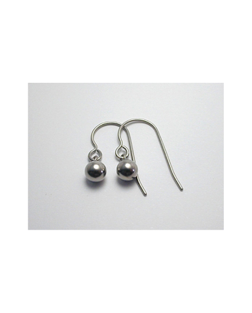 Domestic Titanium Hook Earrings Sphere φ5.0 ☆ 12 colors [Horie / H-TP721E]