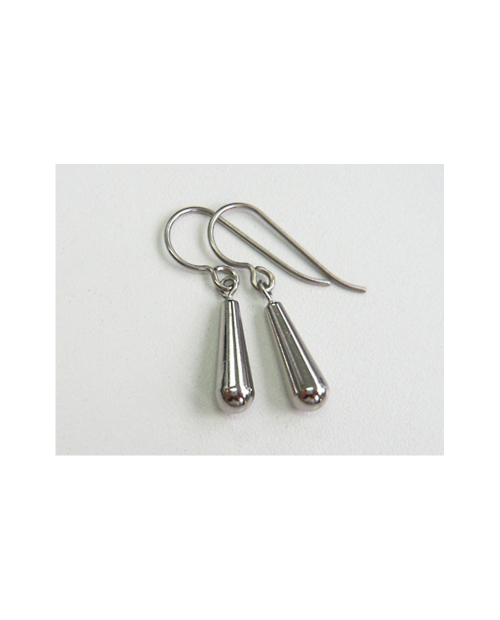 Domestic Pure Titanium Hook Earrings Swing Drop (09. Platinum) [Horie / H-TP7515]