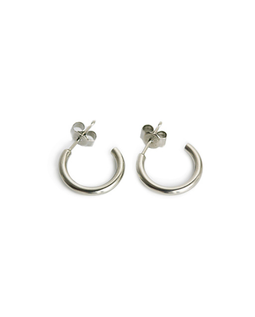 Domestic pure titanium earrings G ring 2 x 15 ☆ 12 colors [Horie / H-TP7541]