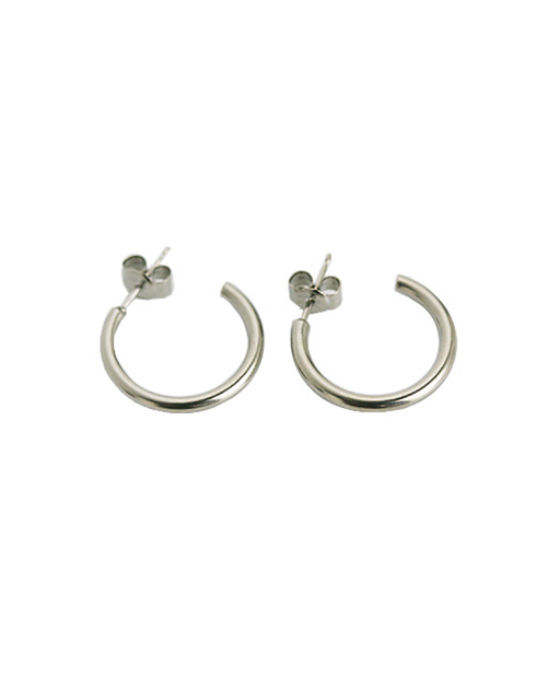 Domestic pure titanium earrings G ring 2 × 20 ☆ 12 colors [Horie / H-TP7542]