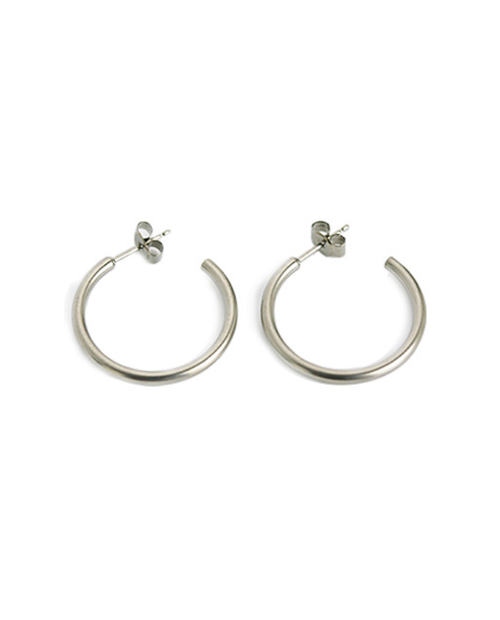 Domestic pure titanium earrings G ring 2 × 25 ☆ 12 colors [Horie / H-TP7543]