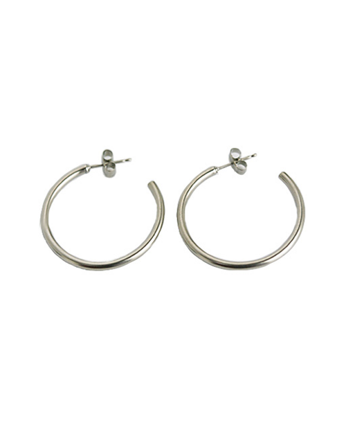 Domestic pure titanium earrings G ring 2 x 30 ☆ 12 colors [Horie / H-TP7544]