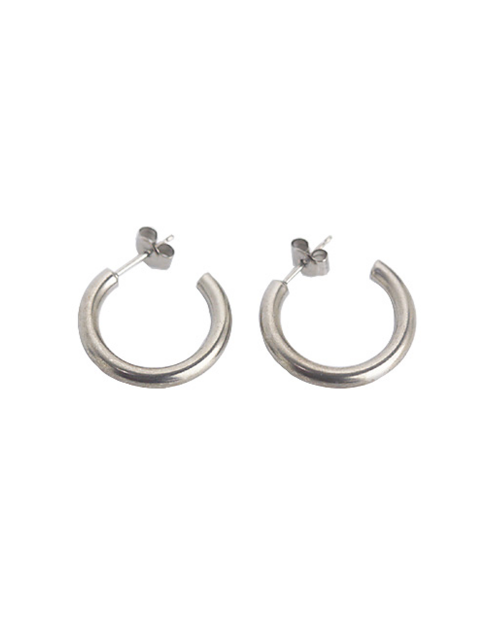 Domestic pure titanium earrings G ring 3 x 20 ☆ 12 colors [Horie / H-TP7552]