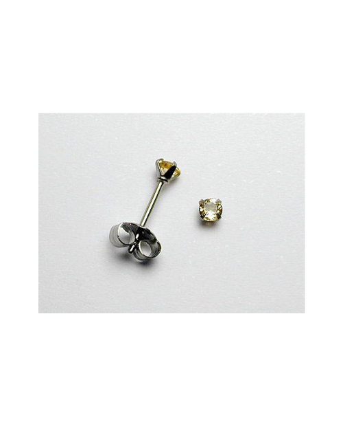 Domestic pure titanium earrings Citrine cut [Horie / H-TP8004]