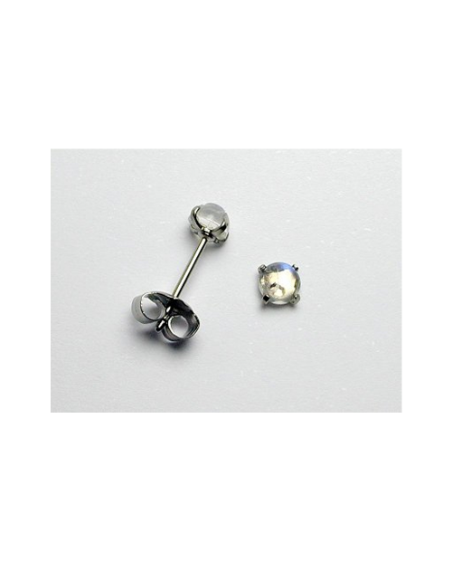 Domestic pure titanium earrings Royal Blue Moonstone [Horie / H-TP8104]