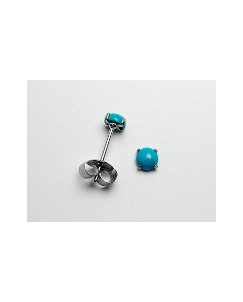 Domestic pure titanium earrings Turquoise [Horie / H-TP8106]