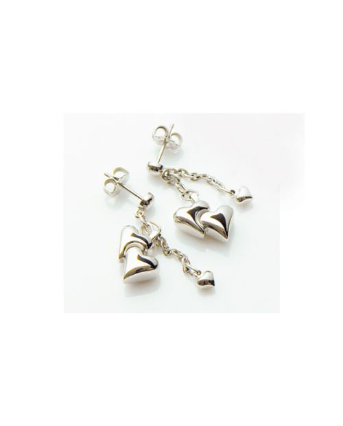 Pure Titanium Earrings W Heart [Male / MARE-28]