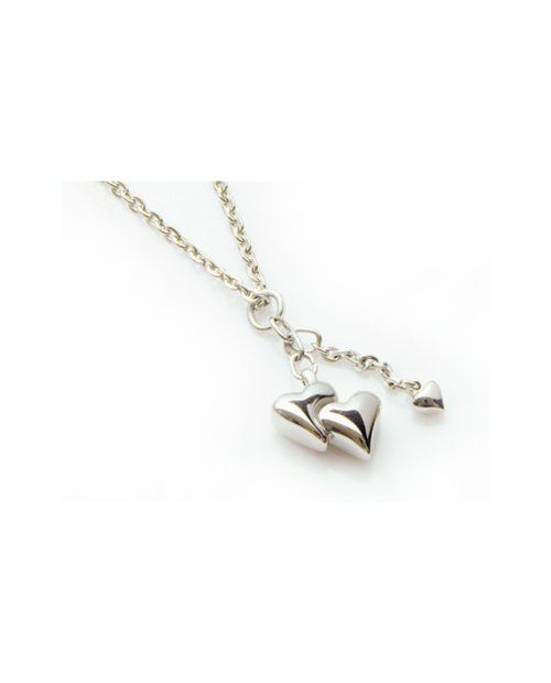 Pure Titanium Necklace W Heart [Mare / MARE-29]
